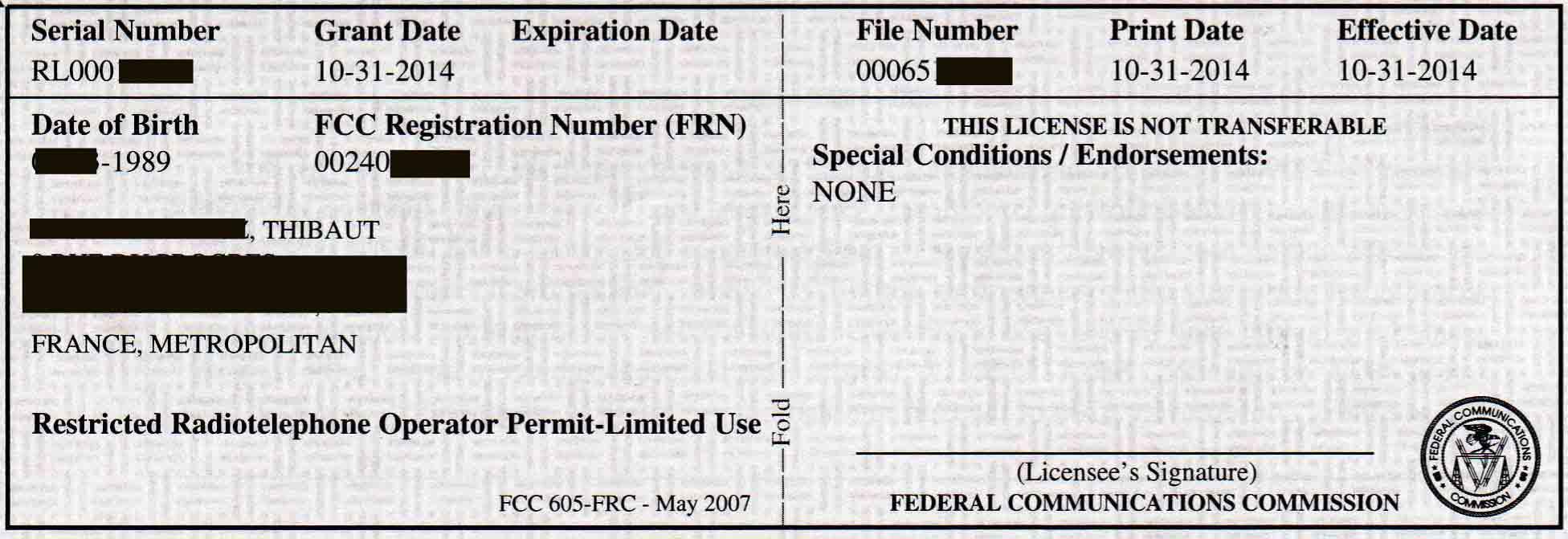 FCC: your Radio Licence FAA « cockpitseeker