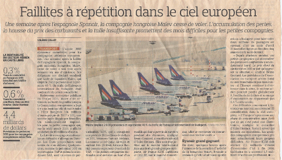 extracted from Le Figaro (4th-5th feb.2012)